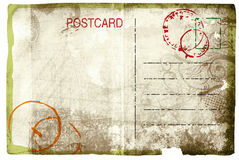 Grunge postcard Royalty Free Stock Image