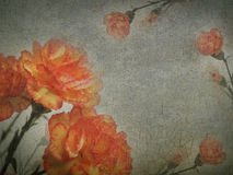 Vintage paper texture, nature flowers background Stock Photo