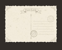 Grunge postcard and postage stamp. Design Stock Photo