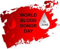 Grunge postcard world blood donor day Royalty Free Illustration