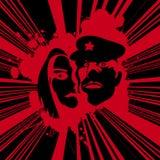 Grunge poster art Stock Image