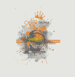 Grunge poster  background. Dirty urban print for t-shirt. Abstract dirt backgrounds texture. Grunge banner with an inky dribble strip with copy space. Abstract Stock Photography
