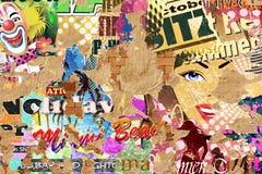 Grunge Poster Background Stock Photos
