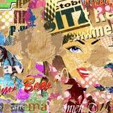 Grunge Poster Background Stock Photo