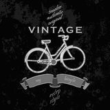 Grunge  poster with bycicle and typography Royalty Free Stock Photos