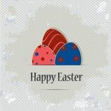 Grunge powitania Wielkanocny szablon Zdjęcie Stock
