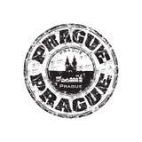 grunge Prague pieczątka Fotografia Stock