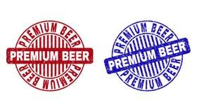 Grunge premii piwa Round Porysowani Watermarks royalty ilustracja