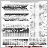 Grunge projekta abstrakcjonistyczni elementy. Obraz Royalty Free