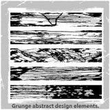 Grunge projekta abstrakcjonistyczni elementy. Fotografia Royalty Free