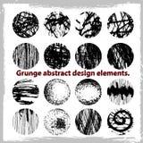 Grunge projekta abstrakcjonistyczni elementy. Zdjęcie Royalty Free