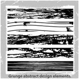 Grunge projekta abstrakcjonistyczni elementy. Fotografia Stock