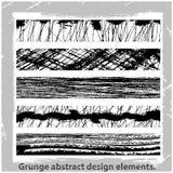 Grunge projekta abstrakcjonistyczni elementy. Obrazy Royalty Free