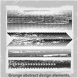 Grunge projekta abstrakcjonistyczni elementy. Zdjęcia Royalty Free