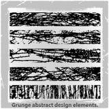 Grunge projekta abstrakcjonistyczni elementy. Zdjęcie Stock