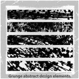 Grunge projekta abstrakcjonistyczni elementy. Obraz Stock