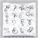 Grunge projekta abstrakcjonistyczni elementy. Wektorowa ilustracja. Obrazy Royalty Free