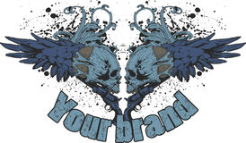 grunge projektu czaszki Zdjęcia Royalty Free