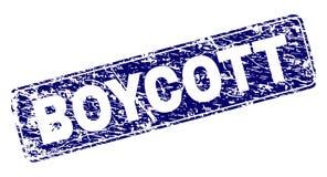 Grunge prostokąta bojkot Obramiający Zaokrąglający znaczek ilustracji