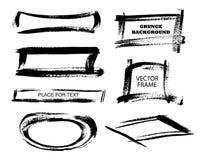 Grunge prostokąty na białym tle i ramy Ręka rysujący prostokąt również zwrócić corel ilustracji wektora Obrazy Royalty Free