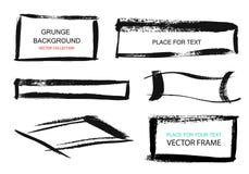 Grunge prostokąty na białym tle i ramy Ręka rysujący prostokąt również zwrócić corel ilustracji wektora Obrazy Stock