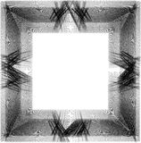 Grunge prucken ram på vit bakgrund Royaltyfri Foto