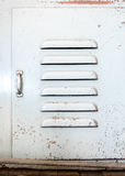 Grunge przemysłu metalu drzwi, nieociosany tekstury tło Zdjęcie Royalty Free