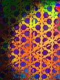 Grunge psicadélico com o papel de parede do fundo do teste padrão do arco-íris Fotos de Stock Royalty Free
