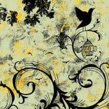 Grunge ptaka piosenka Zdjęcie Royalty Free