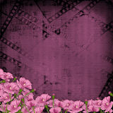 Grunge purple background with digital ornament Stock Image