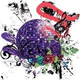 Grunge Purple Disco Ball Royalty Free Stock Image