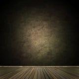 Grunge pusty izbowy wnętrze Zdjęcie Stock