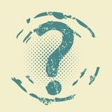 Grunge pytania pomocy znak Zdjęcia Royalty Free