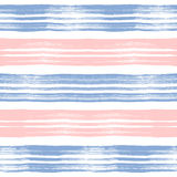 Grunge quartz and serenity seamless pattern of stripes. Rose quartz and serenity seamless pattern of stripes, grunge hand painted vector striped pink and lilac Stock Photography