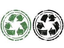 Grunge que recicla o selo Fotografia de Stock