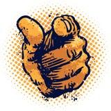 Grunge que señala el dedo stock de ilustración