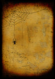Grunge quemó el fondo de víspera de Todos los Santos Imagen de archivo libre de regalías