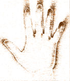 grunge ręka Obraz Stock