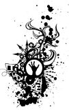 grunge ręka Fotografia Royalty Free