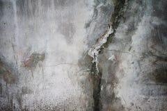 Grunge rachou o muro de cimento Imagem de Stock