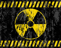 Grunge radiation sign background Royalty Free Stock Photo
