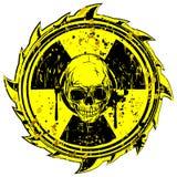 Grunge radiation skull Stock Photos