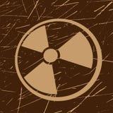 Grunge radiation symbol Royalty Free Stock Images