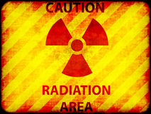 Grunge radiation warning Stock Photo