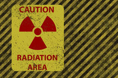 Grunge radiation warning Royalty Free Stock Image