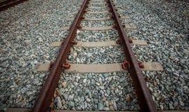 Grunge railroad track Stock Photos