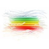 Grunge rainbow brush stroke with stripes on white Stock Photos