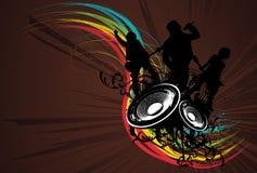 Grunge Rainbow Rock Band. Vector Illustration Royalty Free Stock Image