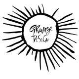Grunge rama z graficznymi sunbeams również zwrócić corel ilustracji wektora Royalty Ilustracja