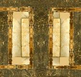 grunge ramowego skórzany zdjęcie Obraz Stock